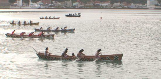 海応援動画#11 奄美伝統の舟こぎ競争