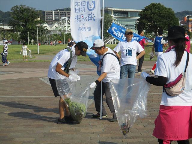 「第16回かごしま錦江湾サマーナイト大花火大会 ボランティア清掃」