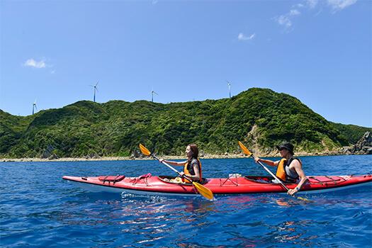 レンタルシーカヤック&ベイカヤックで海を楽しめる!笠沙恵比寿