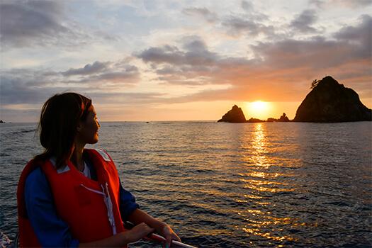 笠沙恵比寿のアクティビティー「地元漁船で行く!サンセットクルーズ」