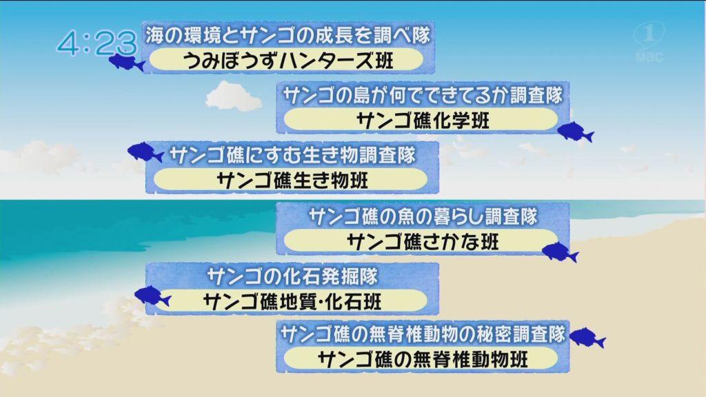 MBCテレビ『かごしま4』広報誌探検隊は喜界町の「サンゴ礁サイエンスキャンプ」を探検!