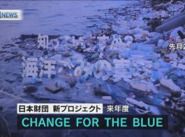 CHANGE FOR THE BLUE~日本財団「海洋ごみ問題対策」を発表