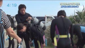 エフエムたつごう「見てみよう!わきゃ海」子どもたちとダイビング!