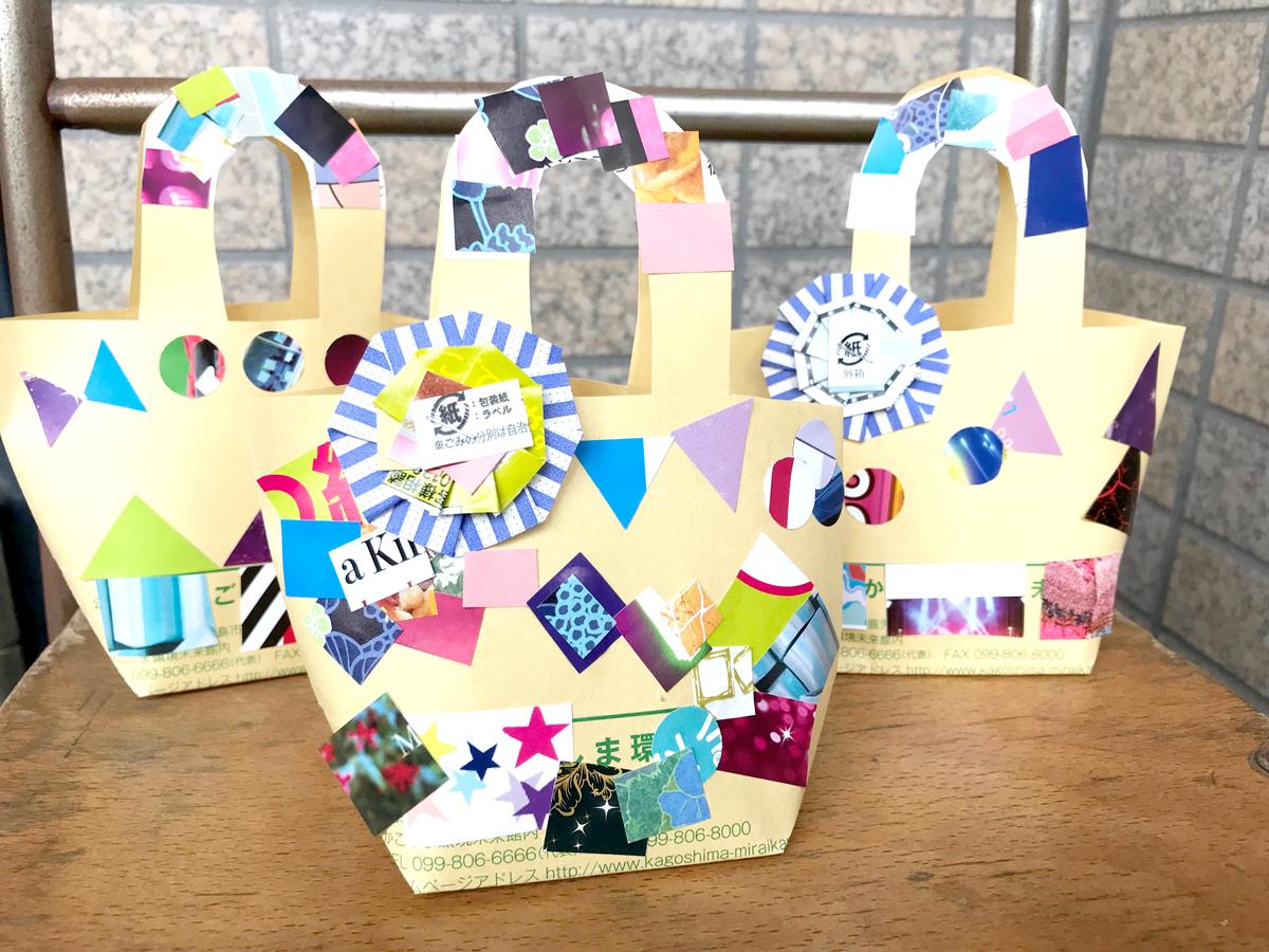 MBC夏まつりで、楽器や封筒コラージュバッグを作ろう!