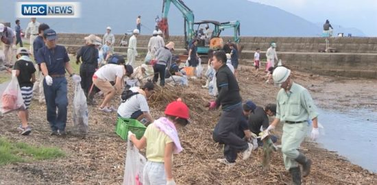 「海の日」霧島市福山町の海岸で清掃活動