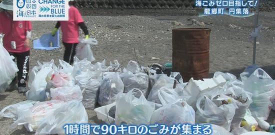 【かごしま4】江口浜と龍郷町で海岸清掃